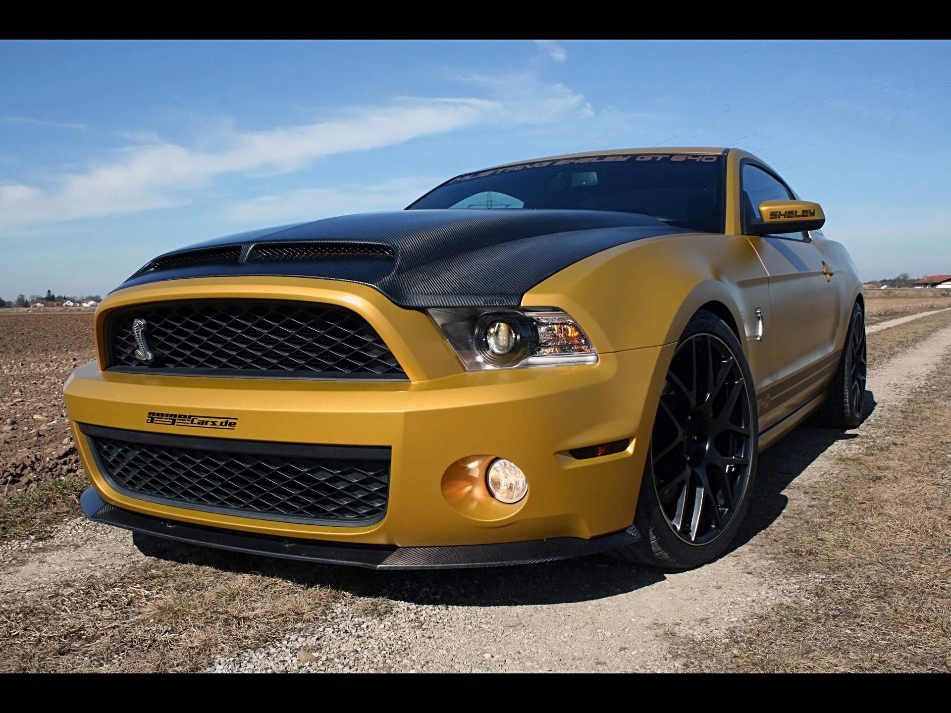 cars golden vehicles Ford HD Wallpaper