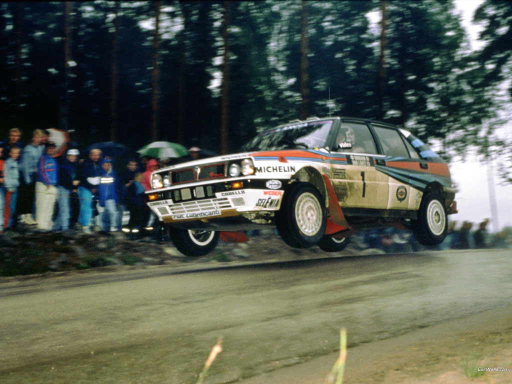 cars jumping rally historic HD Wallpaper