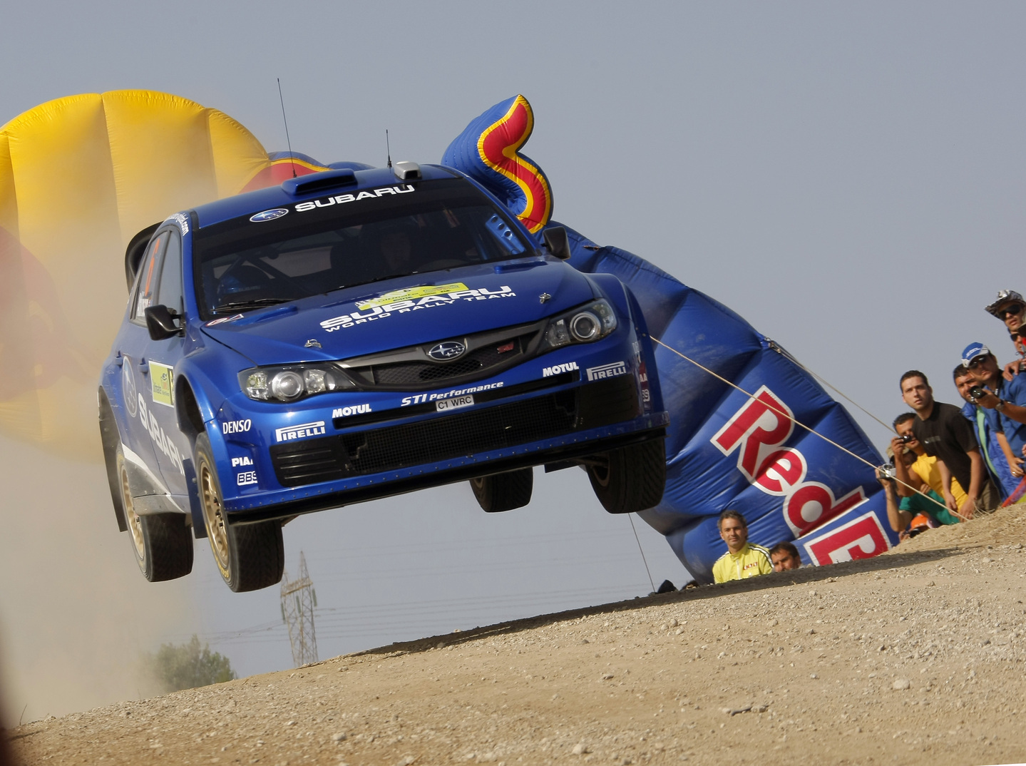 cars jumping rally Subaru HD Wallpaper