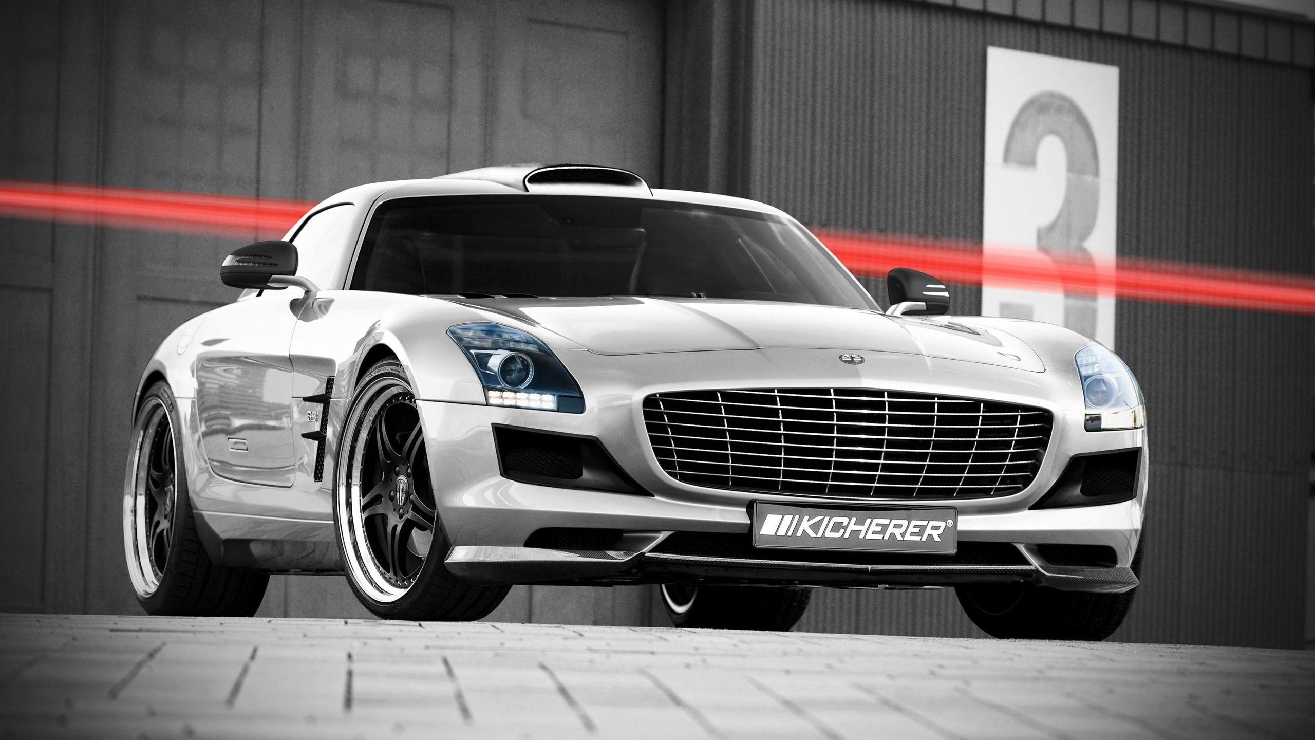 cars Kicherer Mercedes-Benz SLS HD Wallpaper
