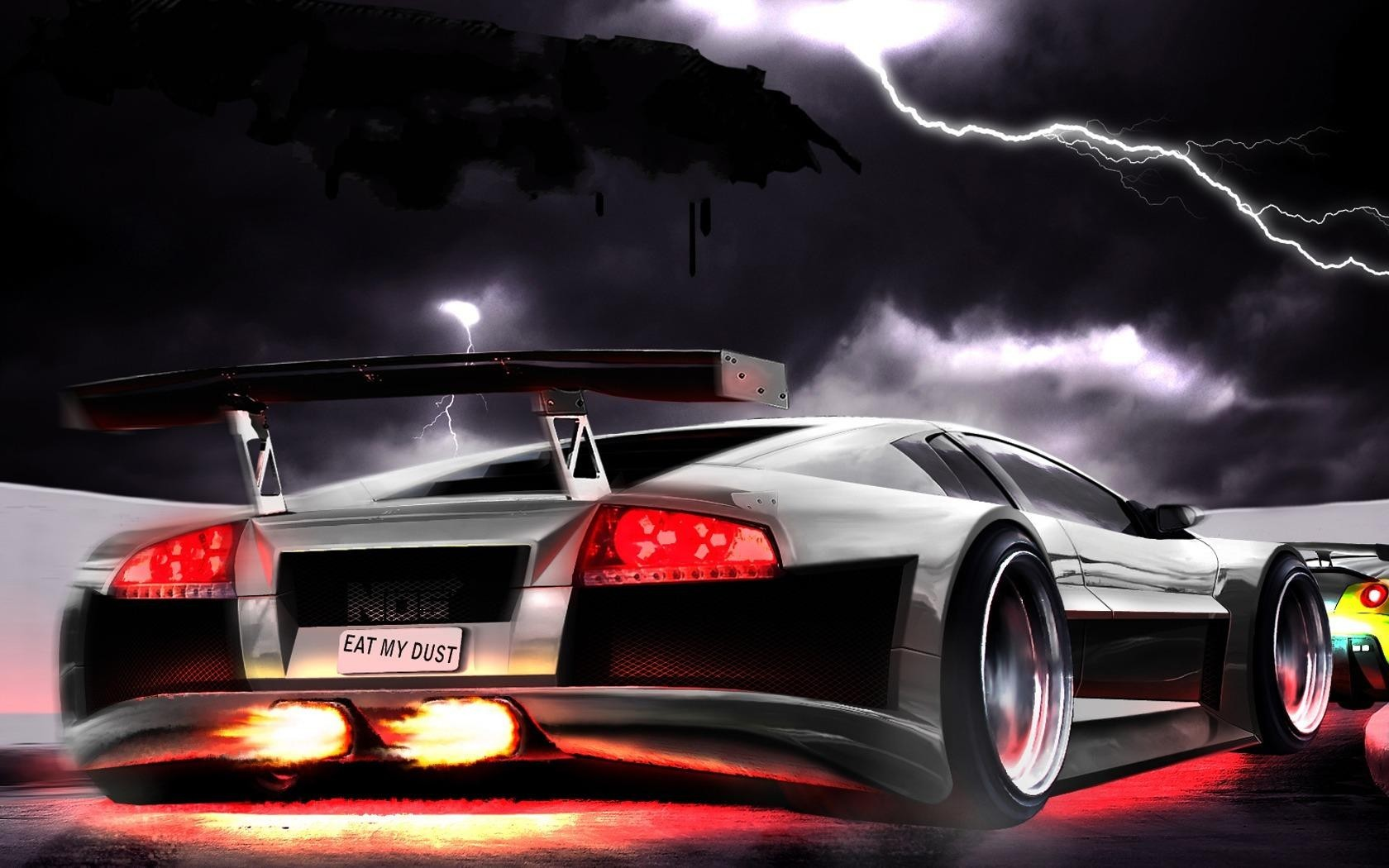 cars Lamborghini Ferrari digital HD Wallpaper