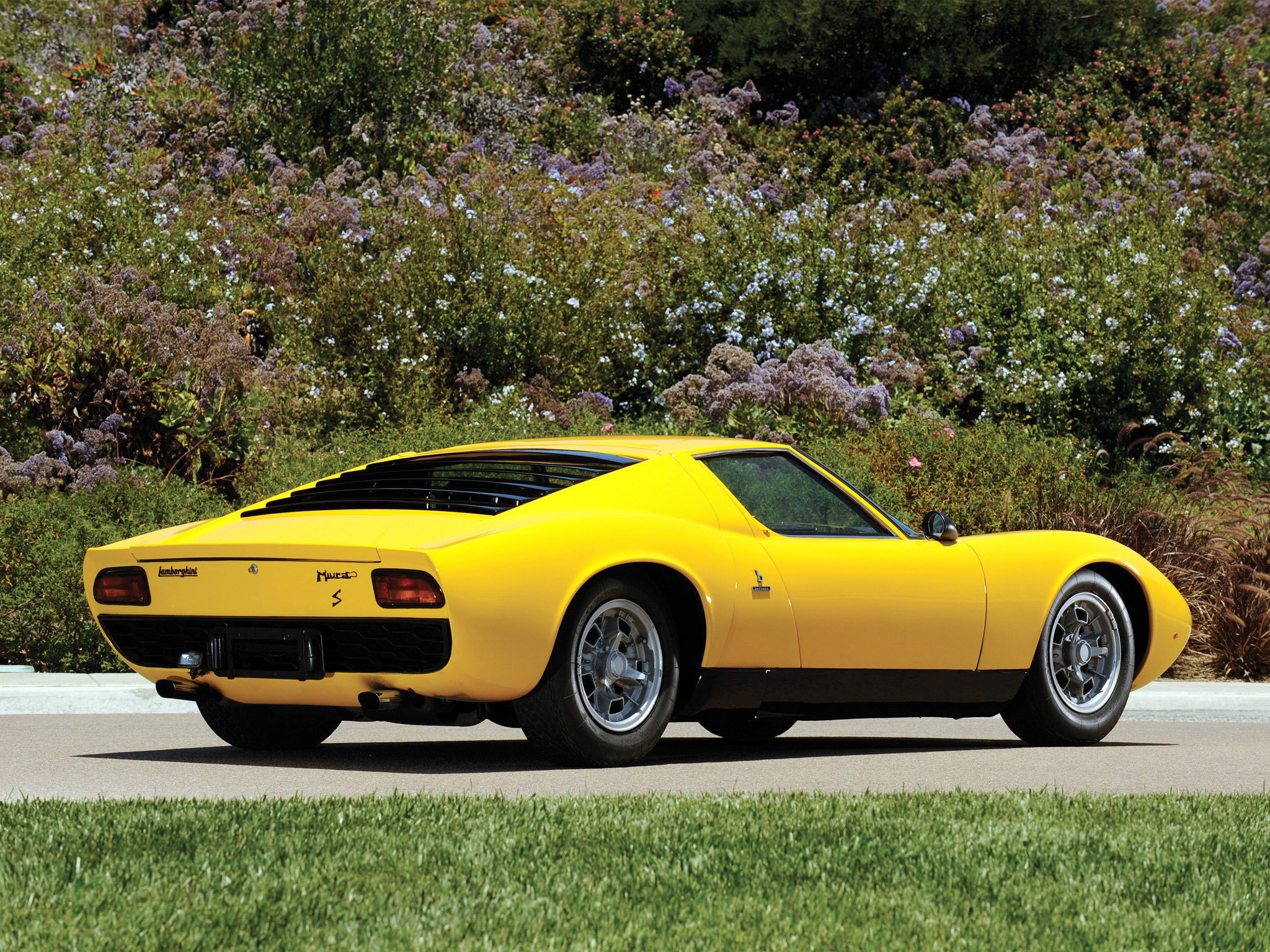 cars Lamborghini Miura yellow HD Wallpaper
