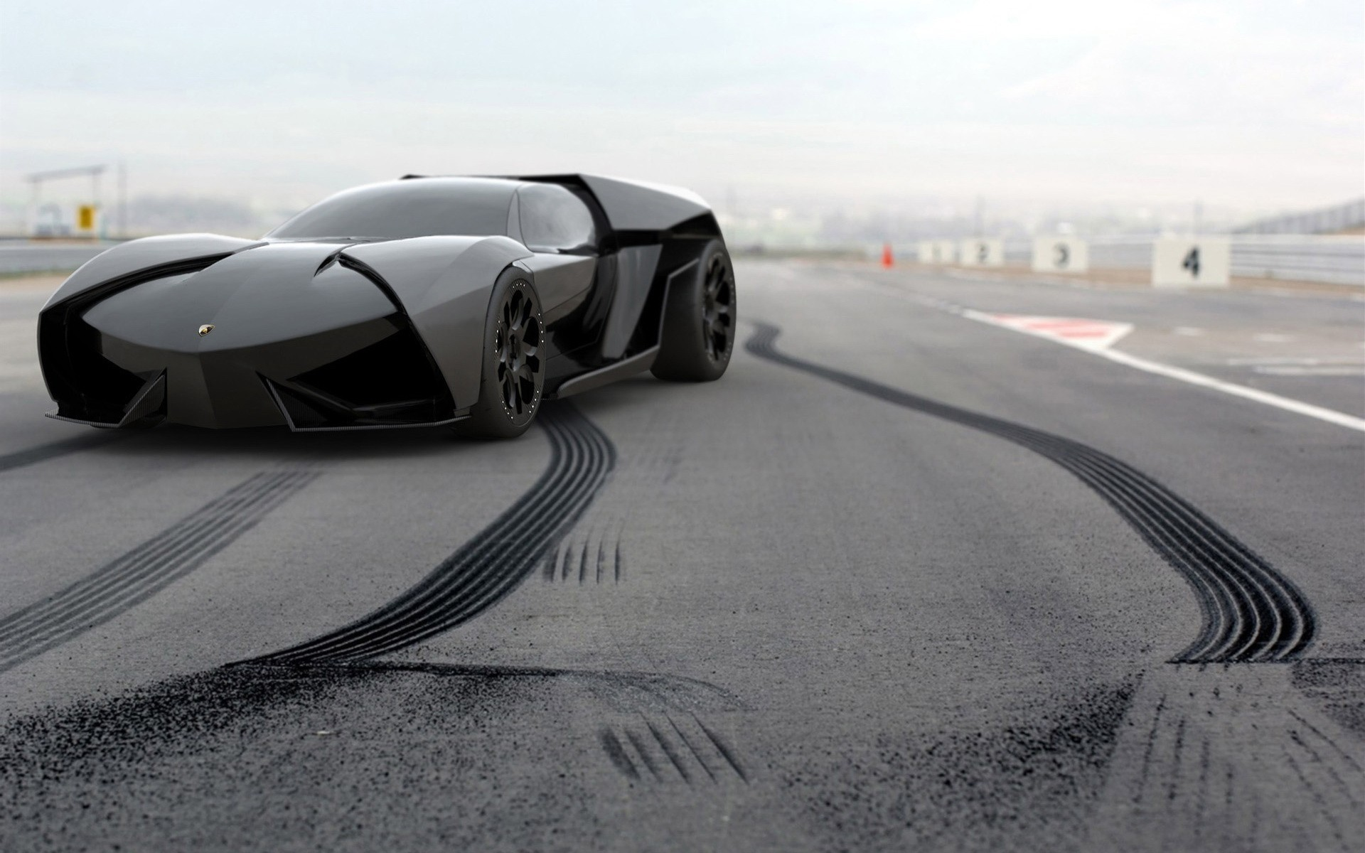 cars Lamborghini vehicles black HD Wallpaper