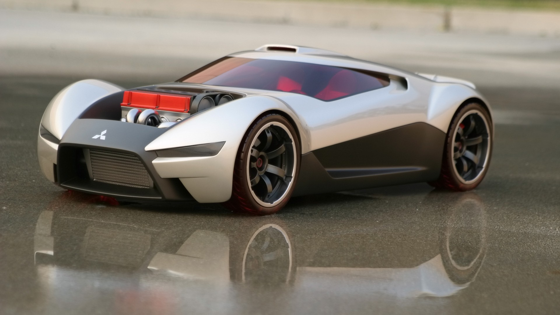 cars Mitsubishi concept art HD Wallpaper