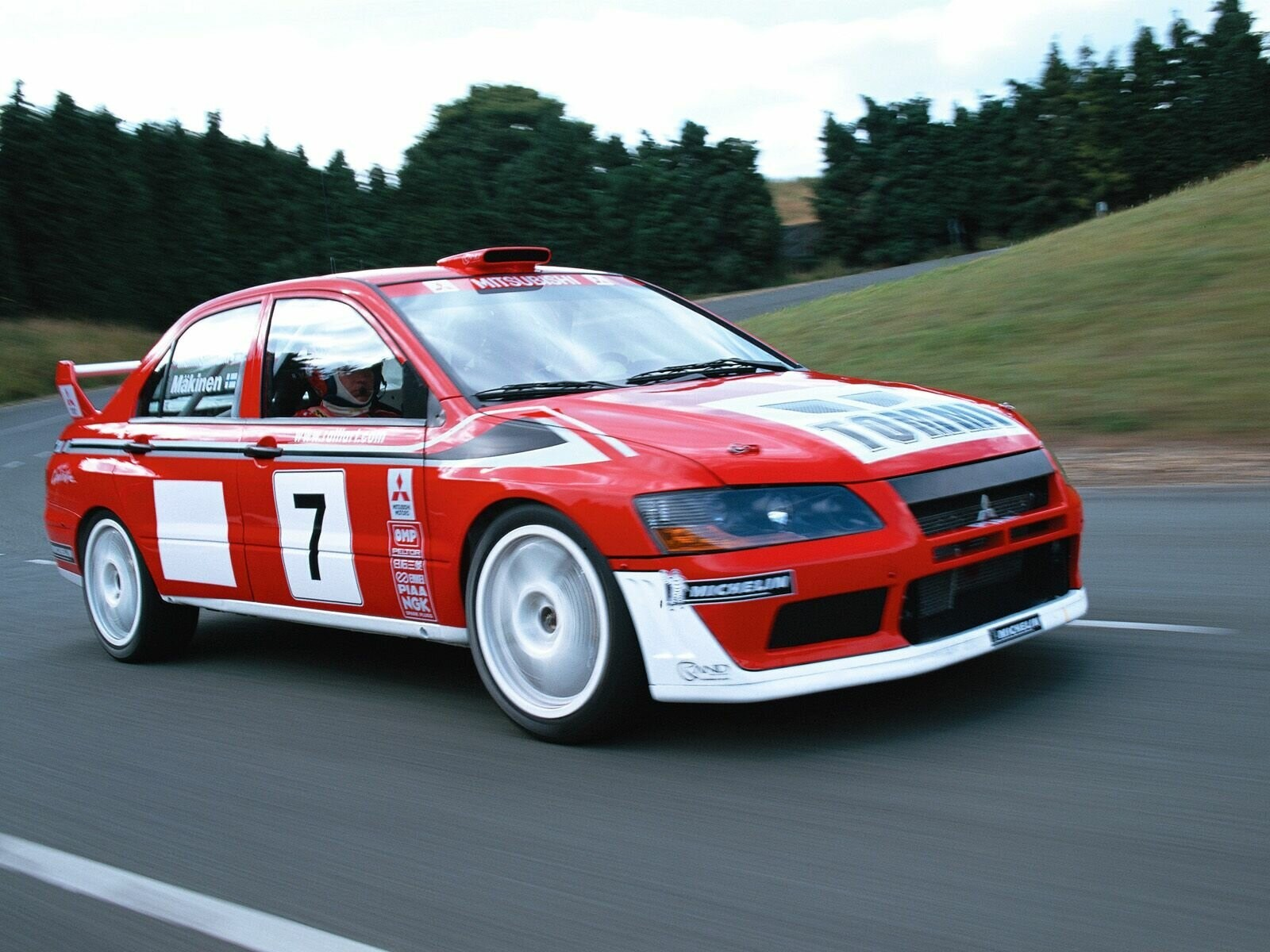 cars Mitsubishi Racer race HD Wallpaper