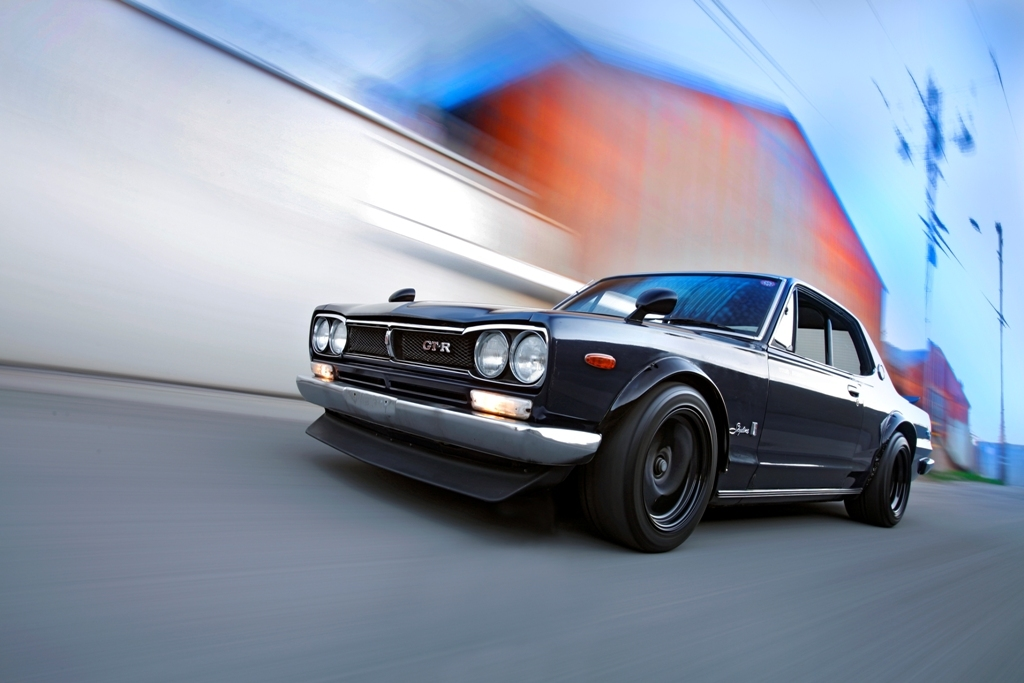cars Nissan motion blur HD Wallpaper