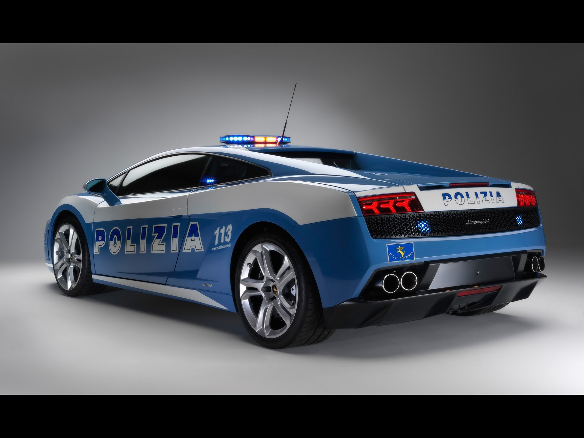cars police Lamborghini back HD Wallpaper