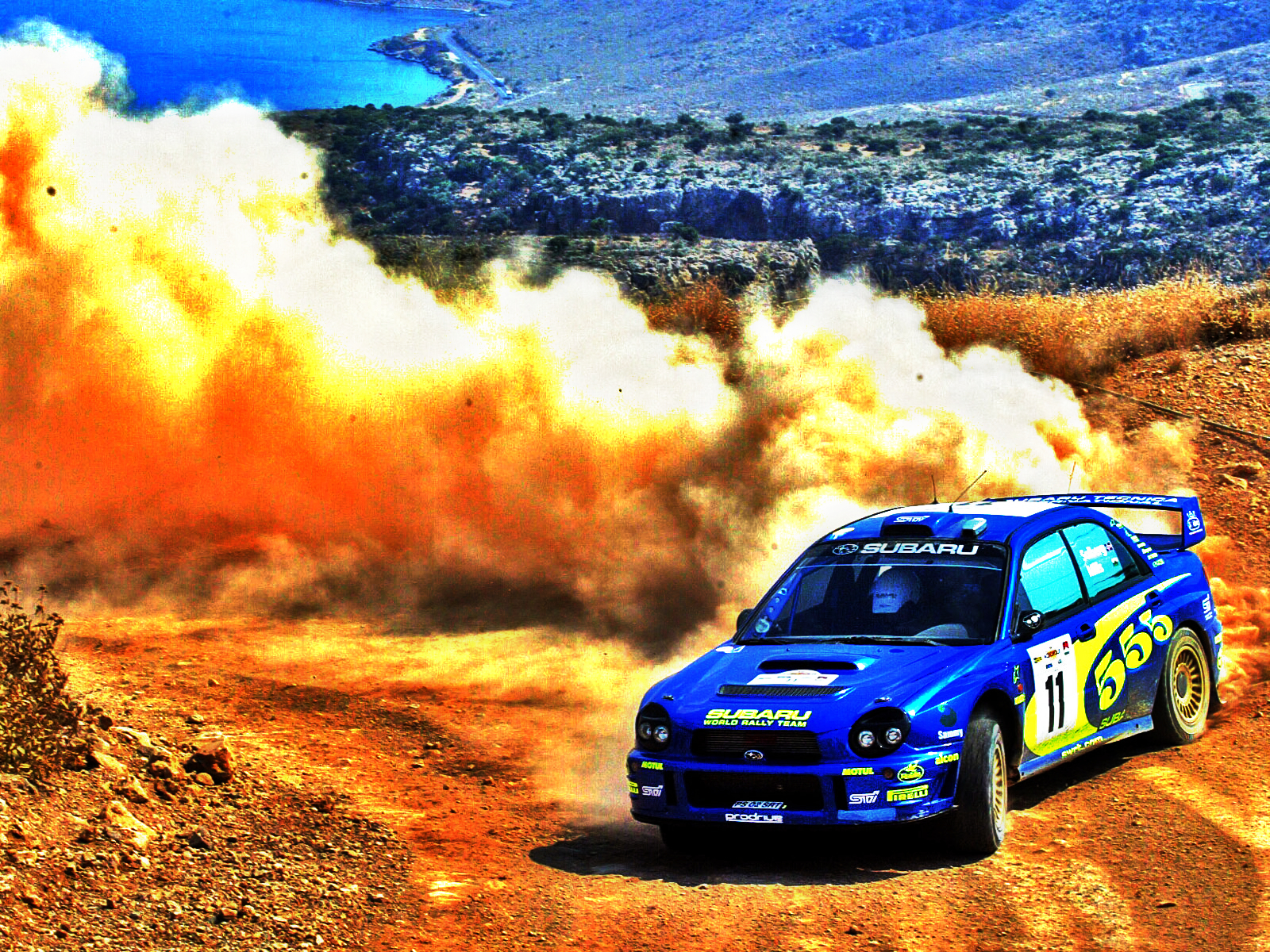cars rally Subaru Impreza