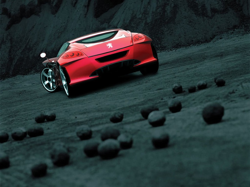 cars rocks Peugeot concept HD Wallpaper