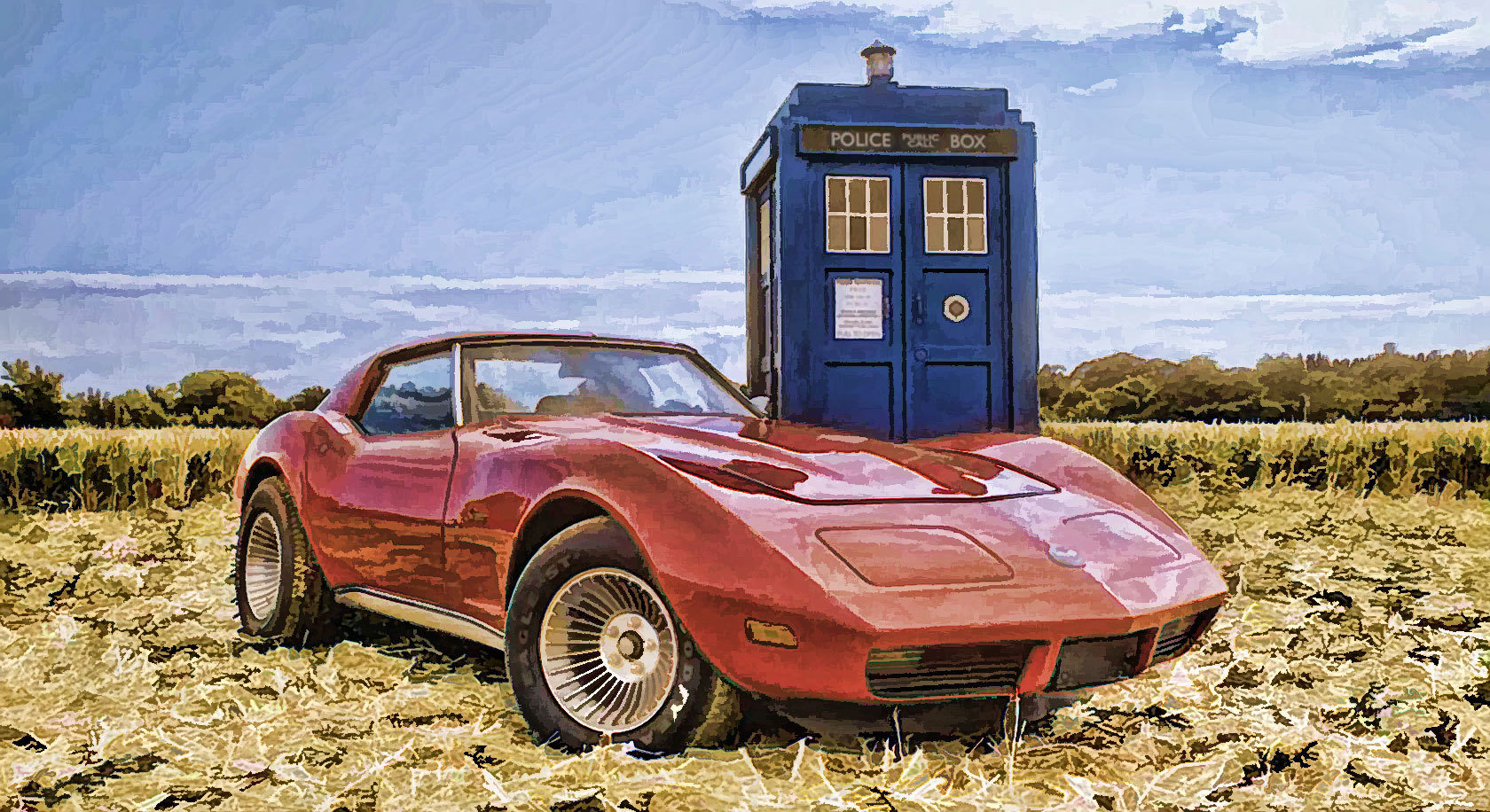 cars tardis Doctor Who HD Wallpaper