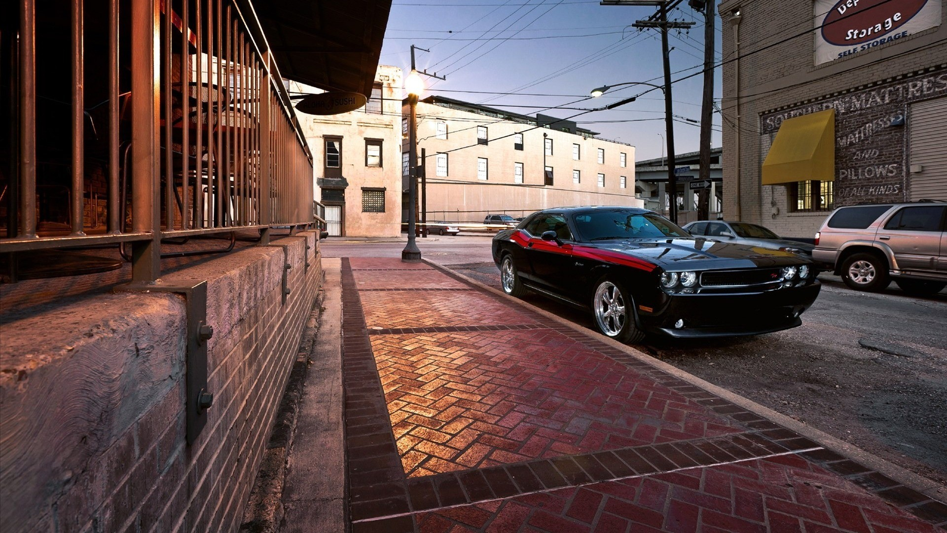 cars urban Dodge HD Wallpaper