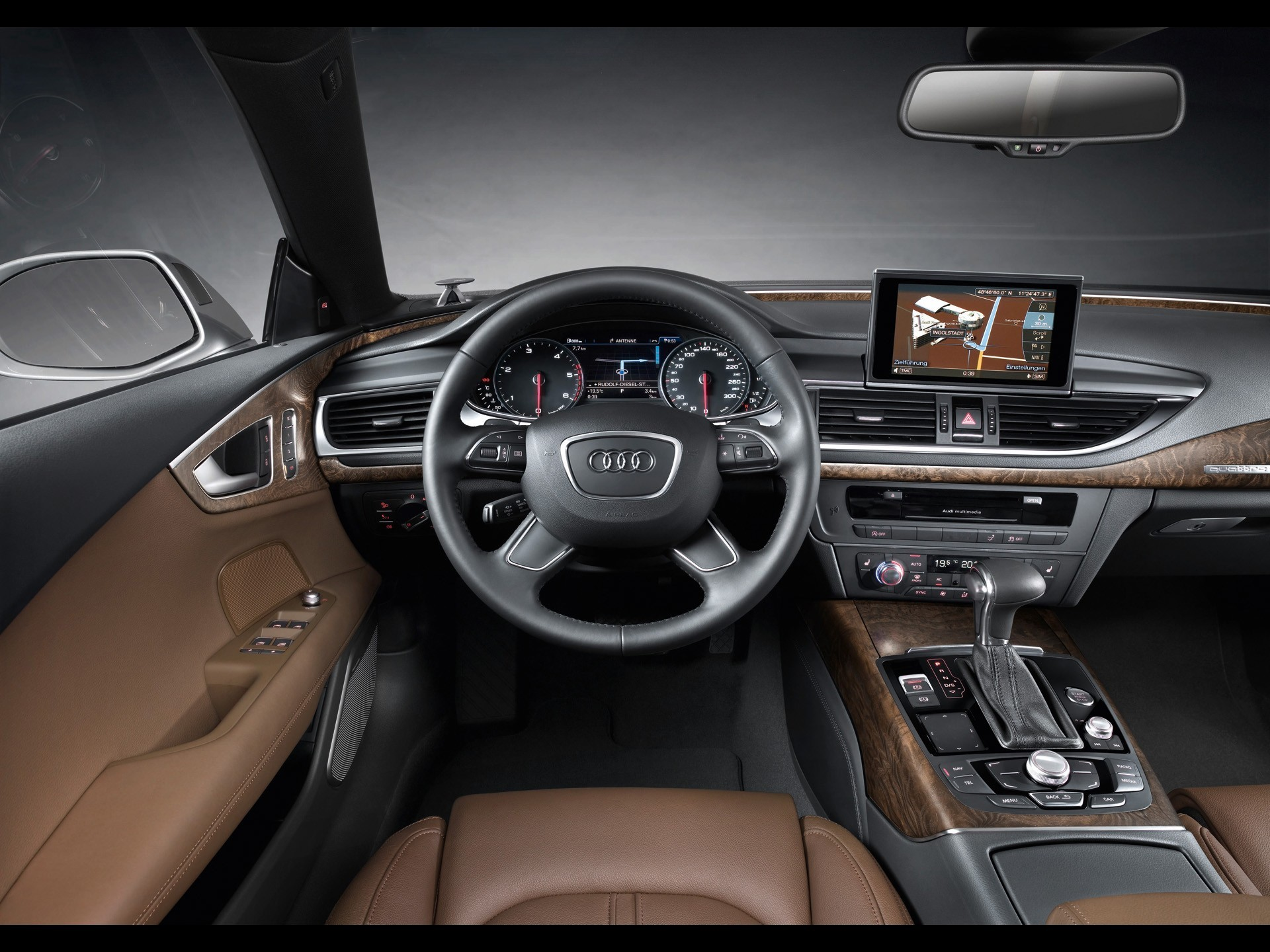 cars vehicles dashboards audi HD Wallpaper