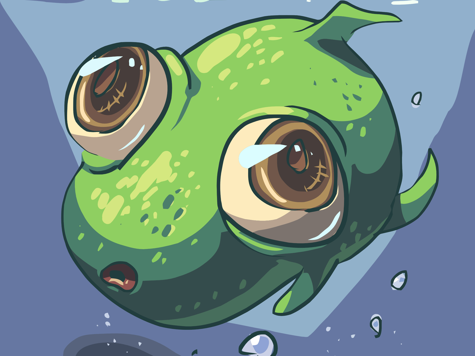 cartoons Frogs aquatic underwater