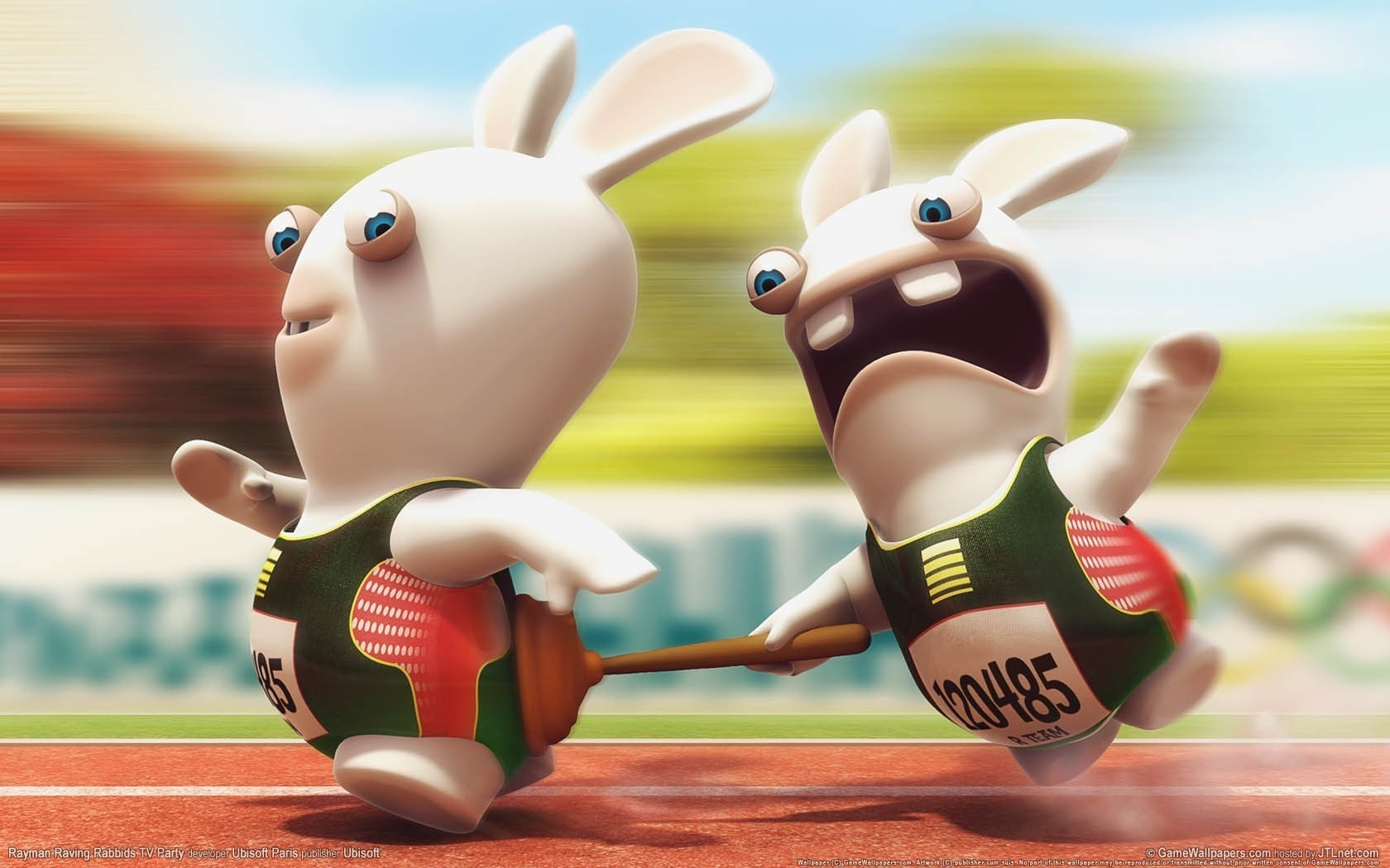 cartoons Raving Rabbids HD Wallpaper
