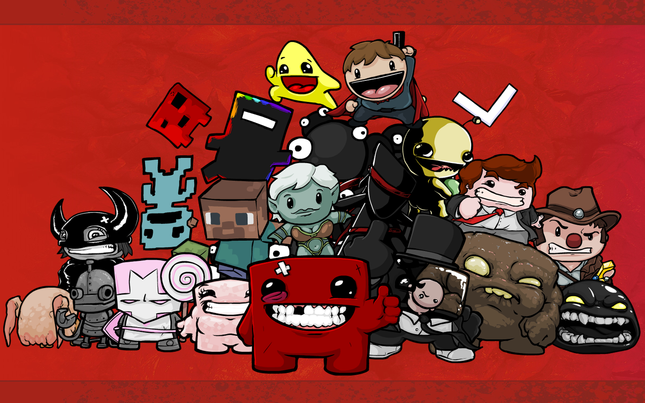 castle crashers minecraft Headcrab HD Wallpaper