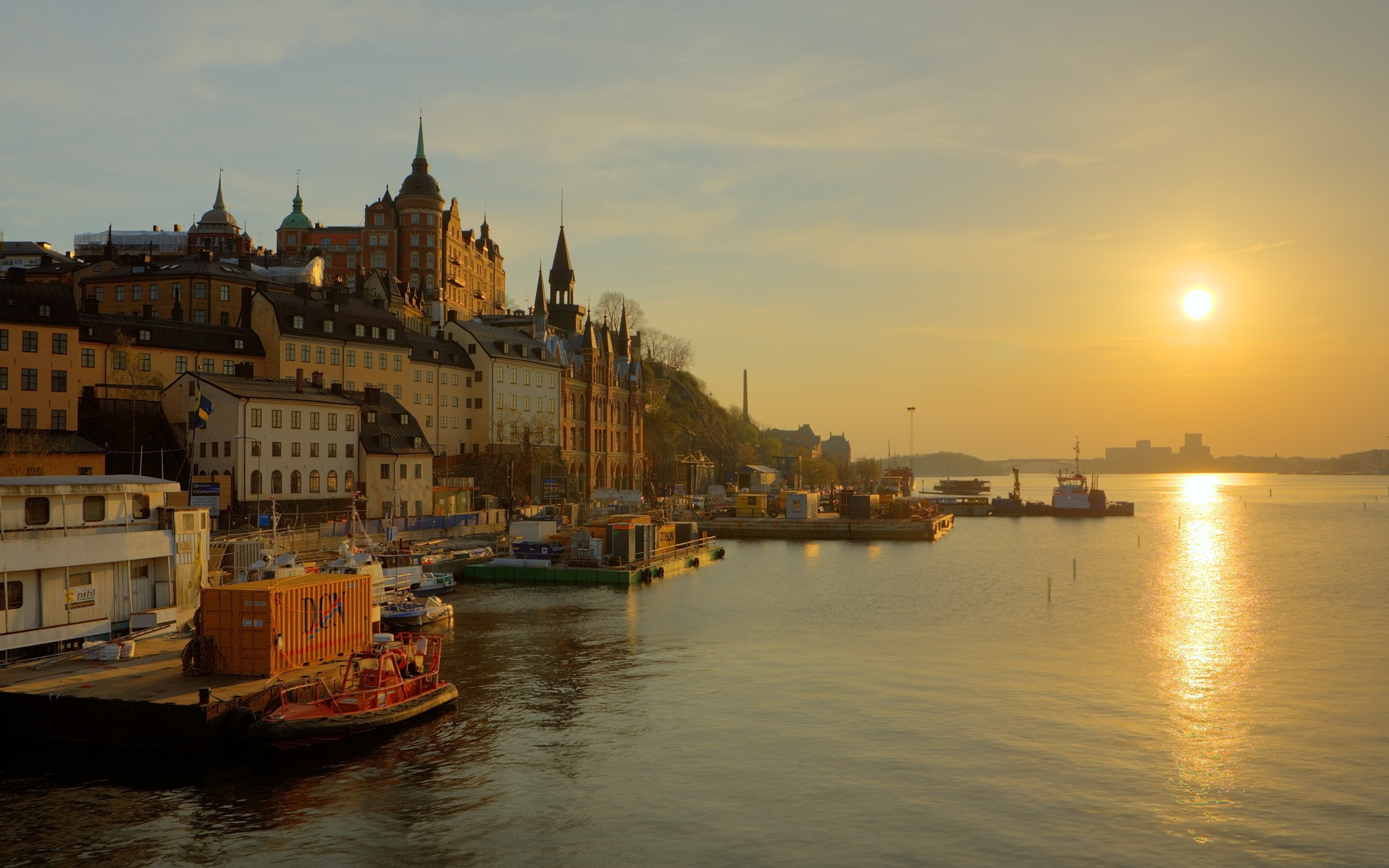 Castles cityscapes sweden cities HD Wallpaper