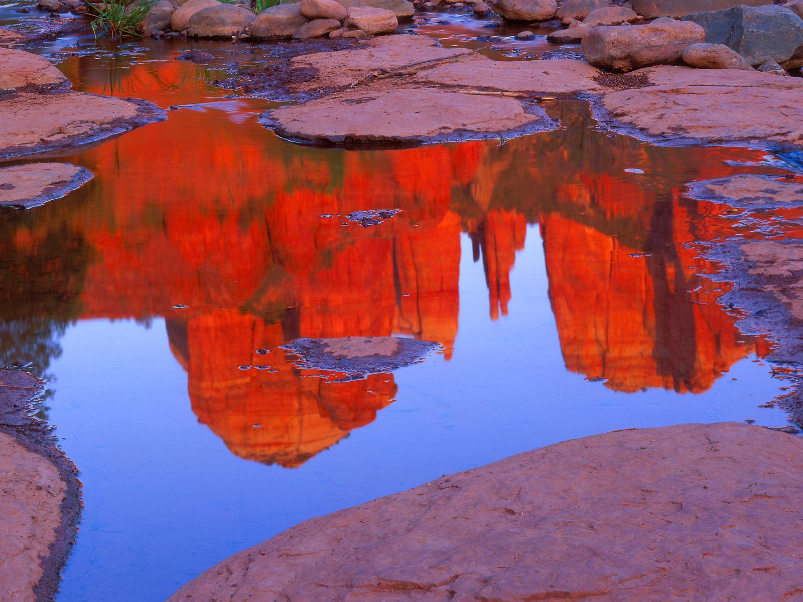 Cathedral rocks reflects in HD Wallpaper