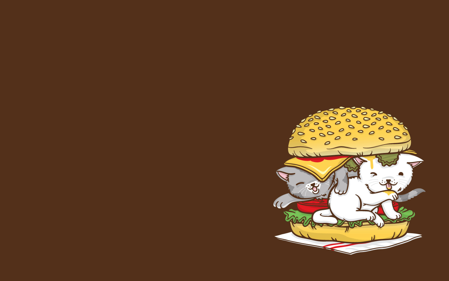 cats Kittens hamburgers animal HD Wallpaper