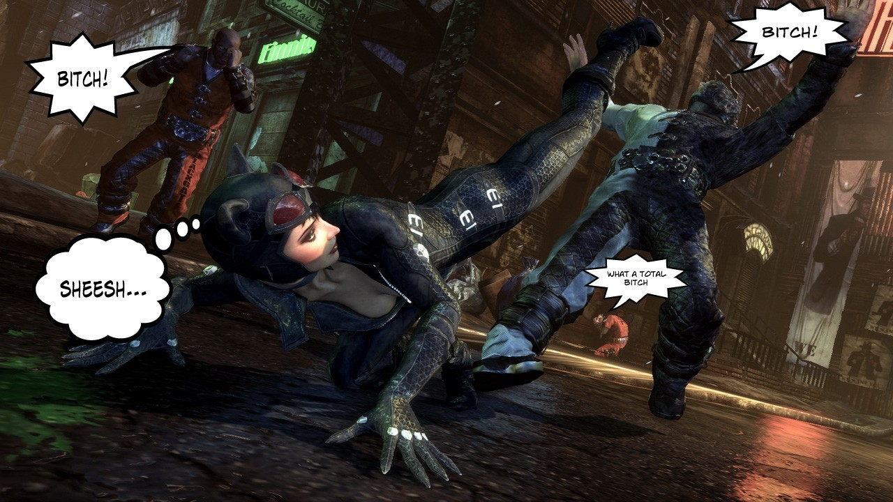 Catwoman arkham city batman HD Wallpaper