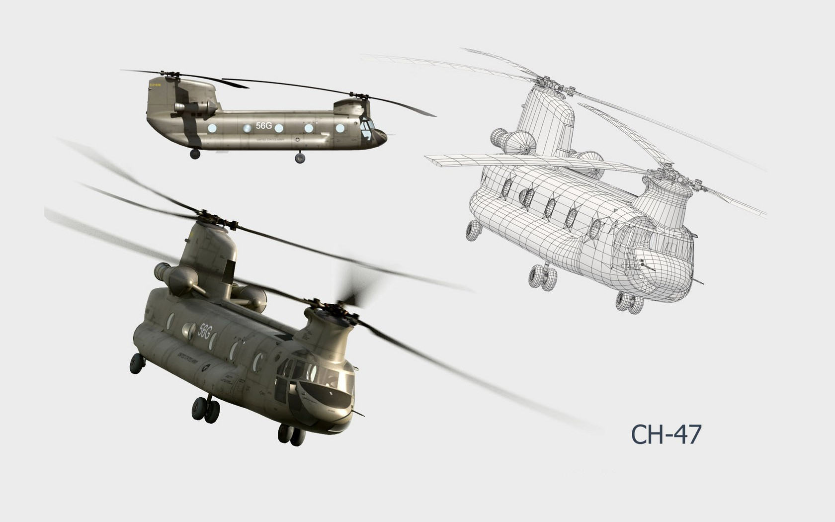 CH-47 Chinook Simple Background HD Wallpaper