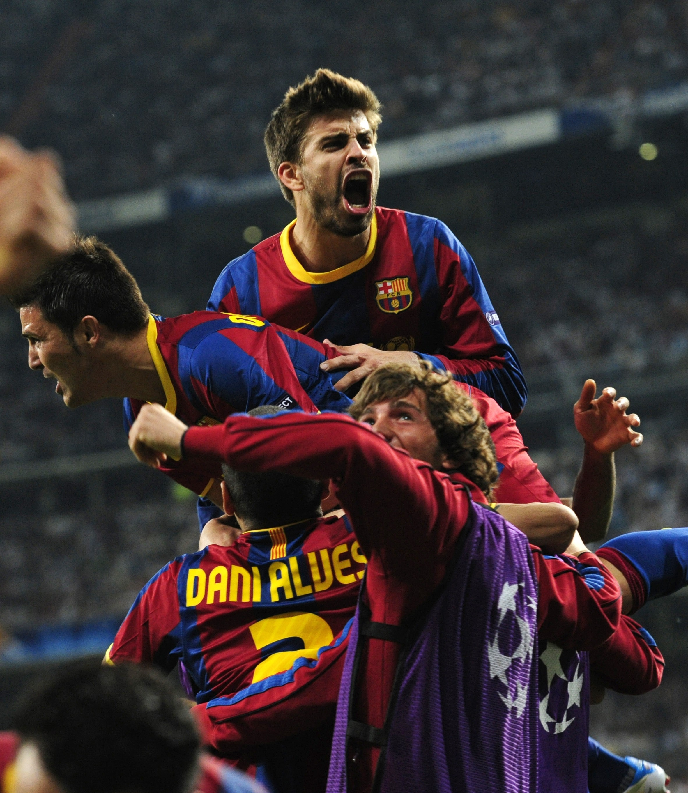 Champions League David Villa FC Barcelona HD Wallpaper