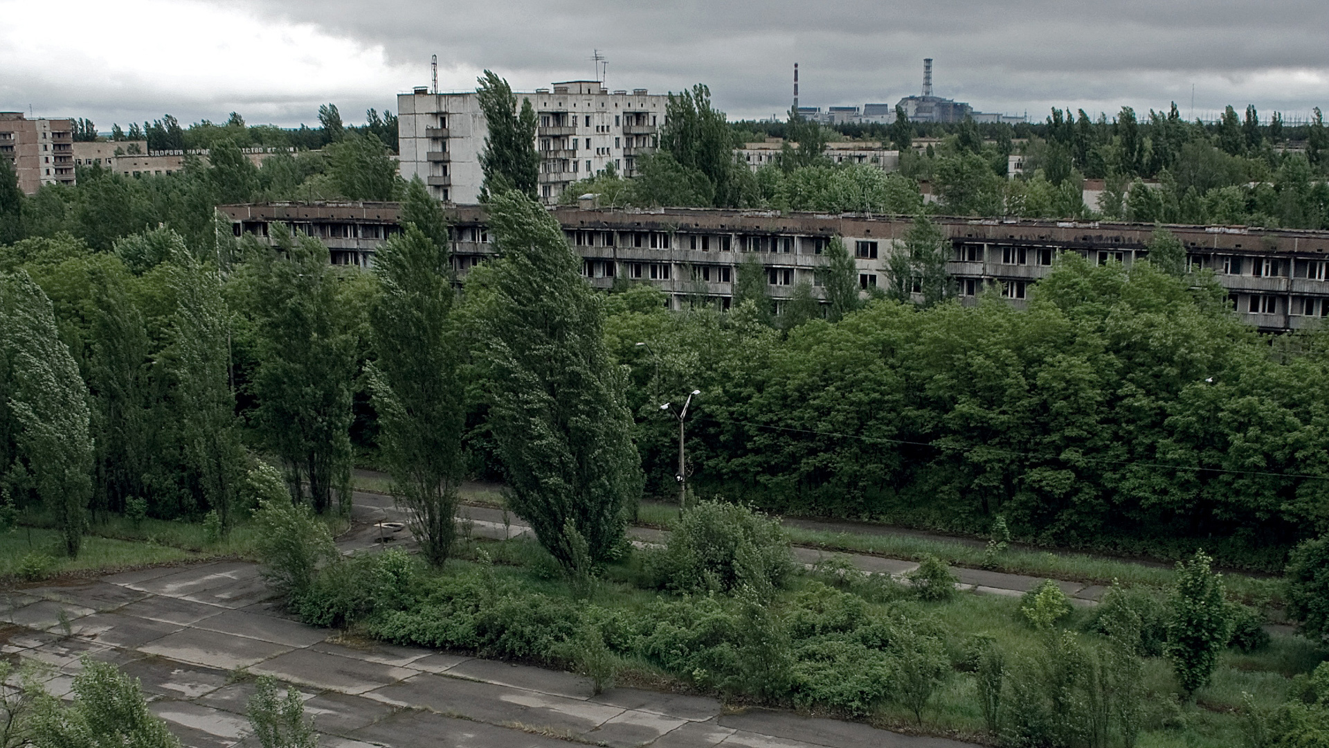 Chernobyl Landscapes ruins architecture HD Wallpaper