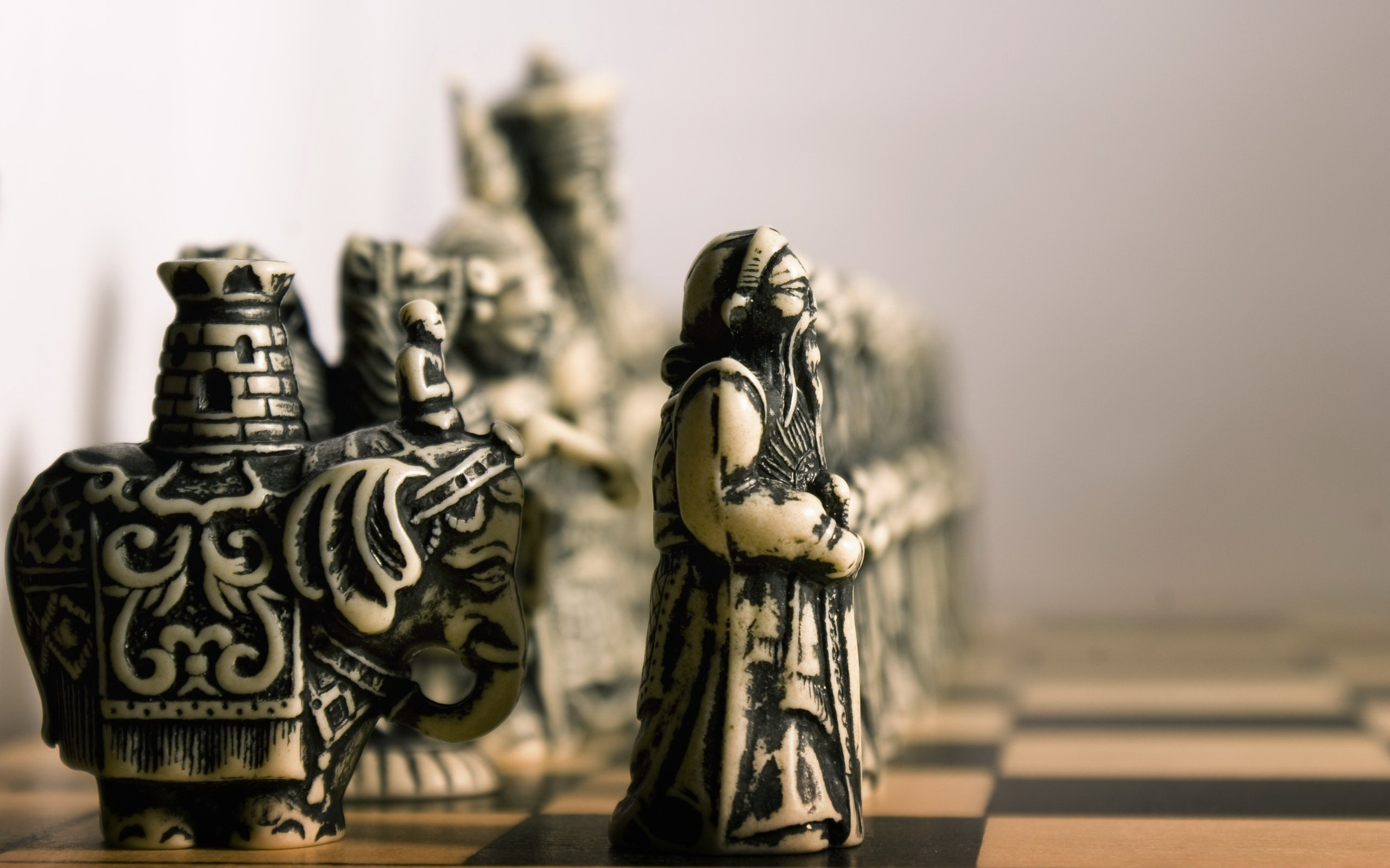 chess pieces HD Wallpaper