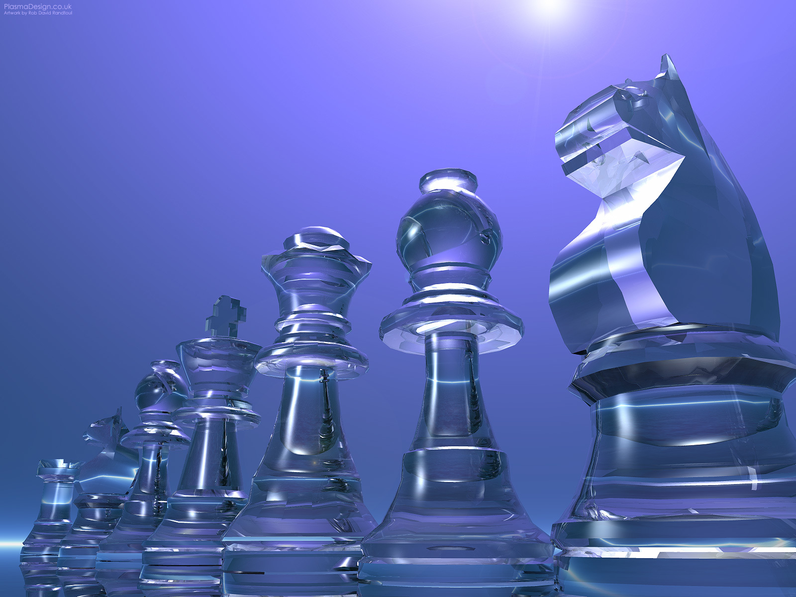 chess pieces glass graphic HD Wallpaper