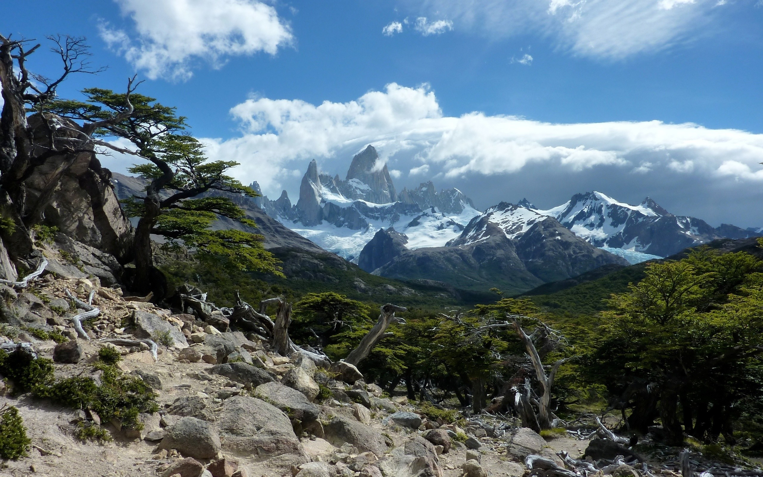chile Mountains clouds Landscapes HD Wallpaper