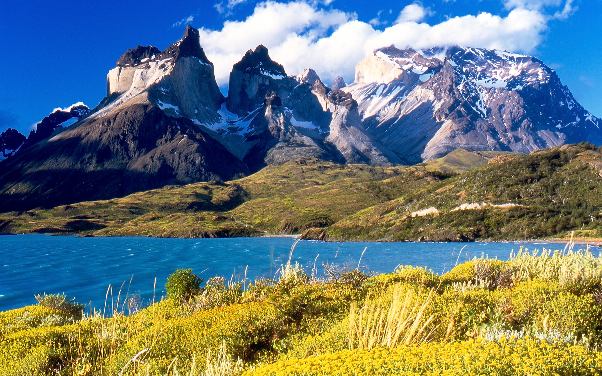 chile Mountains nature lakes HD Wallpaper