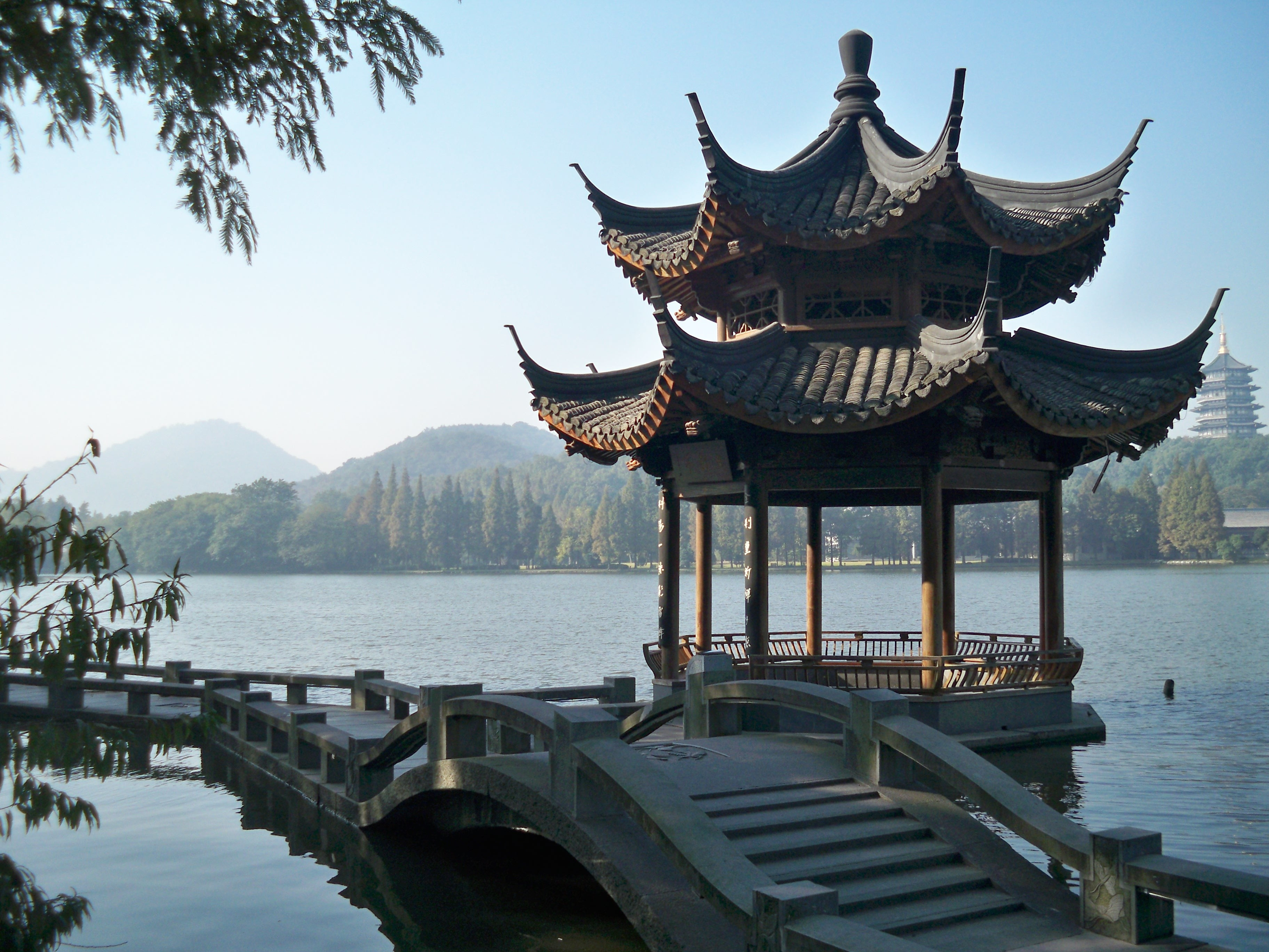China chinese city pavillion HD Wallpaper