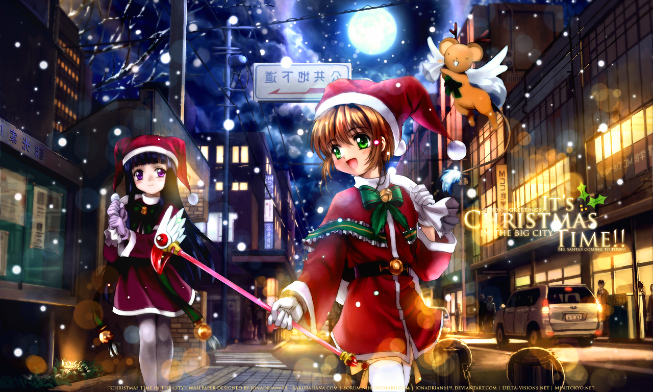 Christmas Anime girls HD Wallpaper