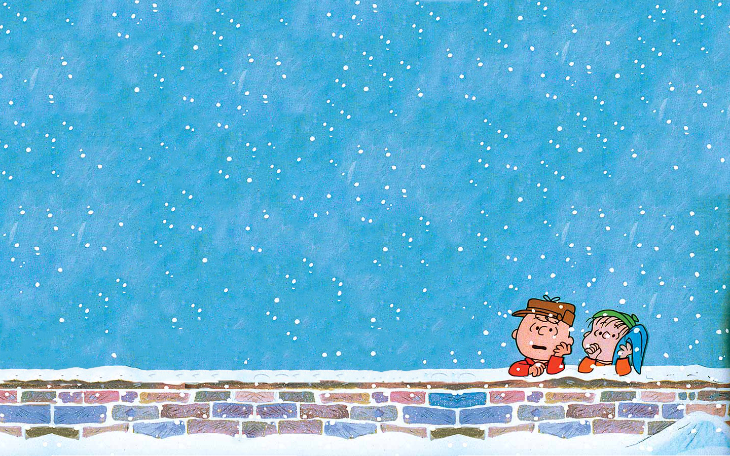 Christmas charlie brown Linus HD Wallpaper
