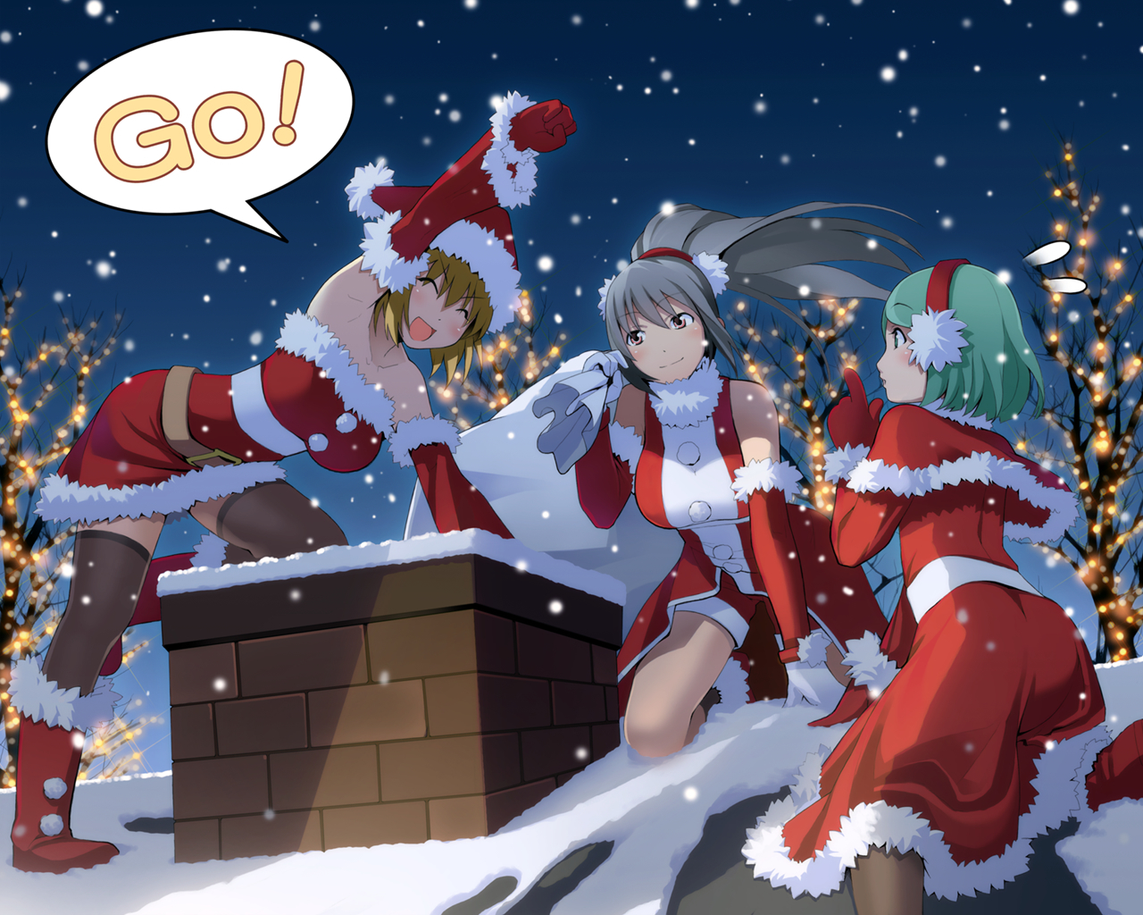 Christmas outfits Anime HD Wallpaper