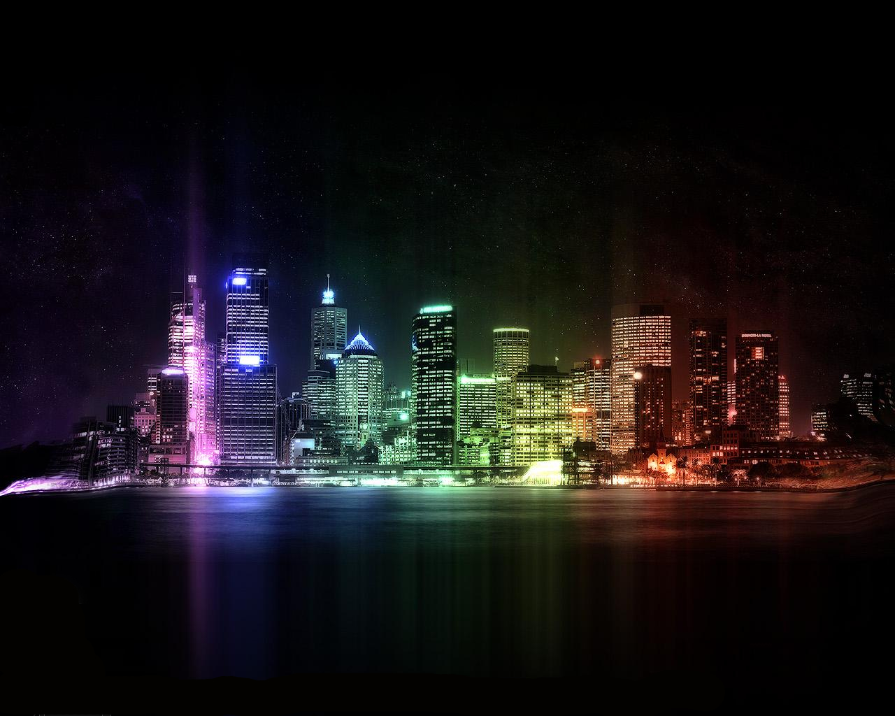City skyline HD Wallpaper