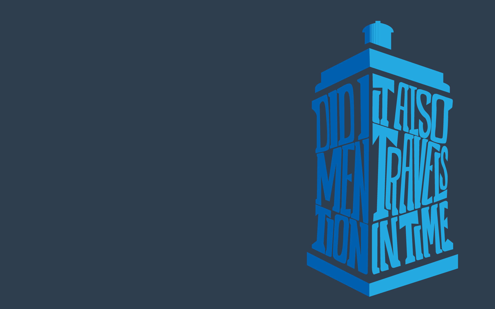 City tardis Typography time HD Wallpaper