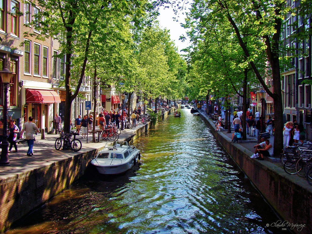 cityscapes Amsterdam HD Wallpaper