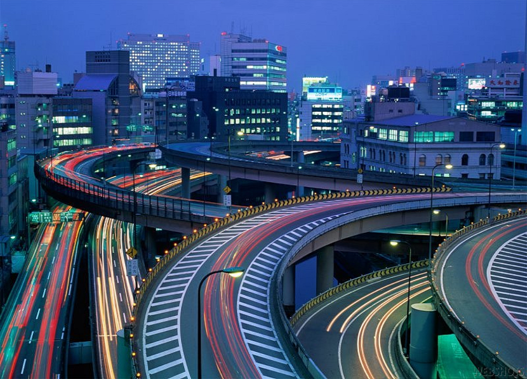 cityscapes buildings highway roads HD Wallpaper