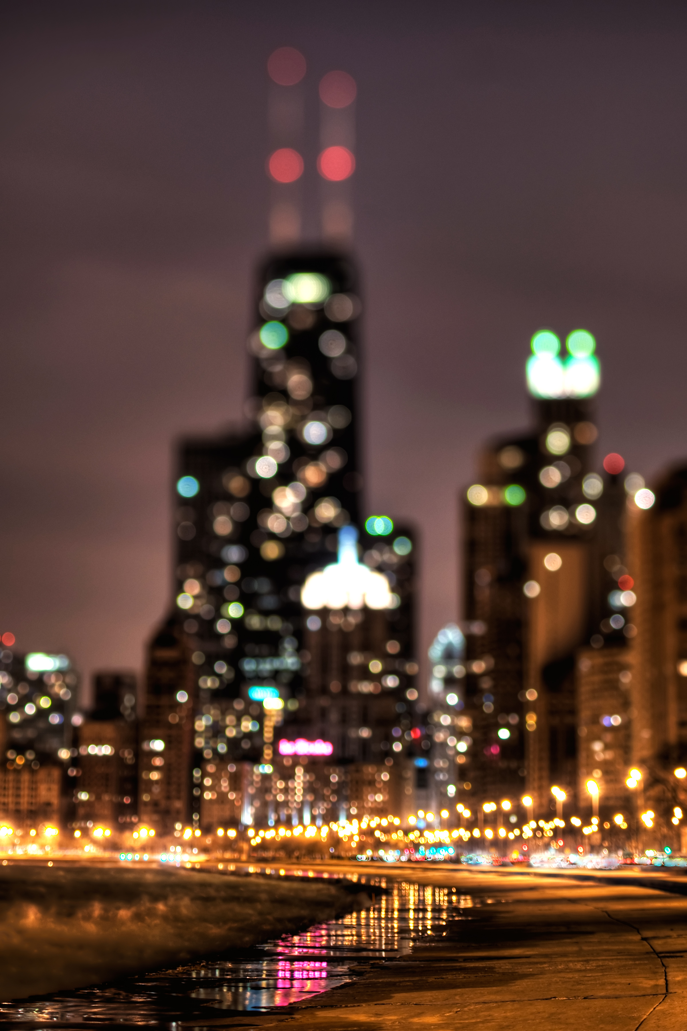 cityscapes buildings Skyscrapers bokeh HD Wallpaper