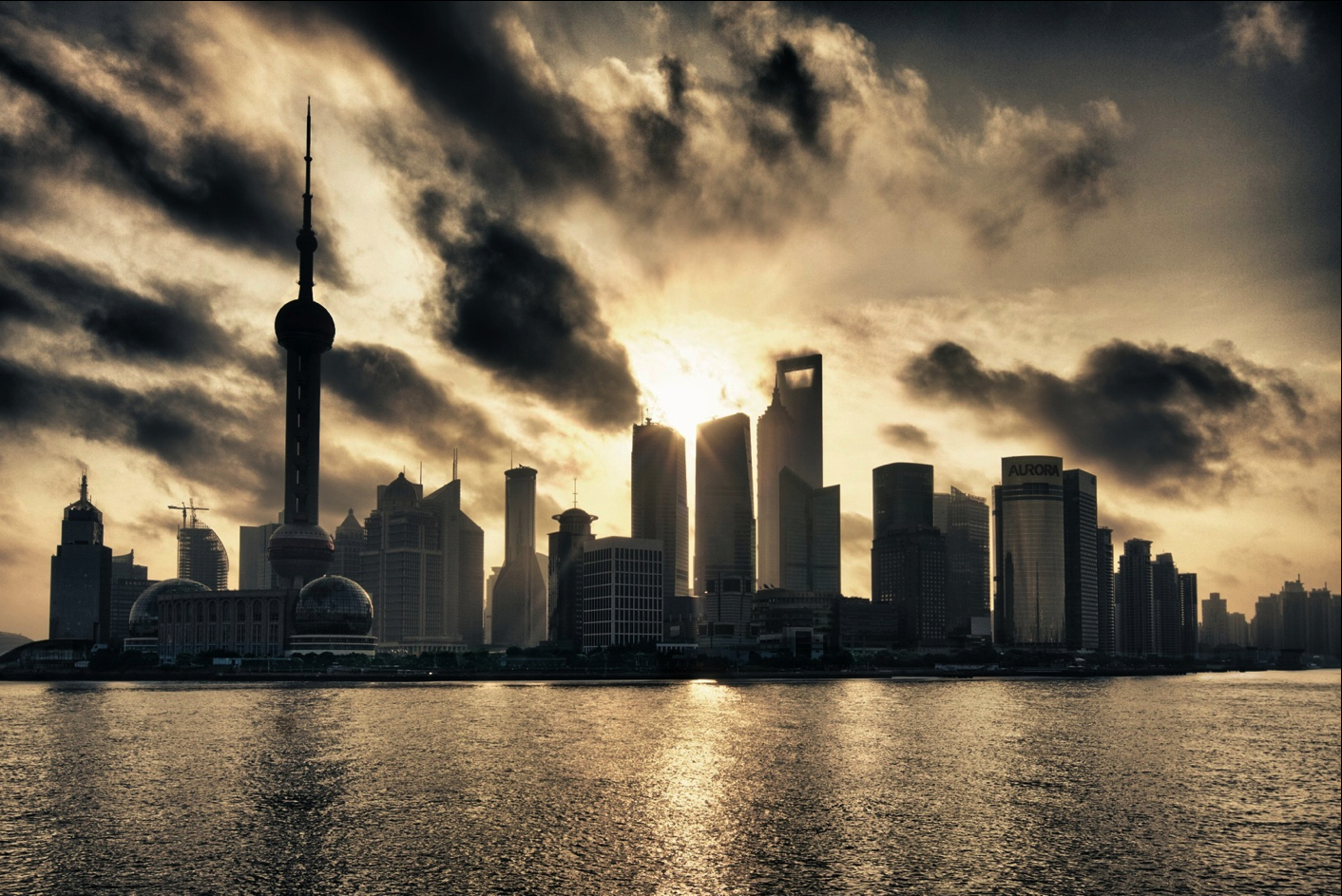 cityscapes China town Shanghai HD Wallpaper