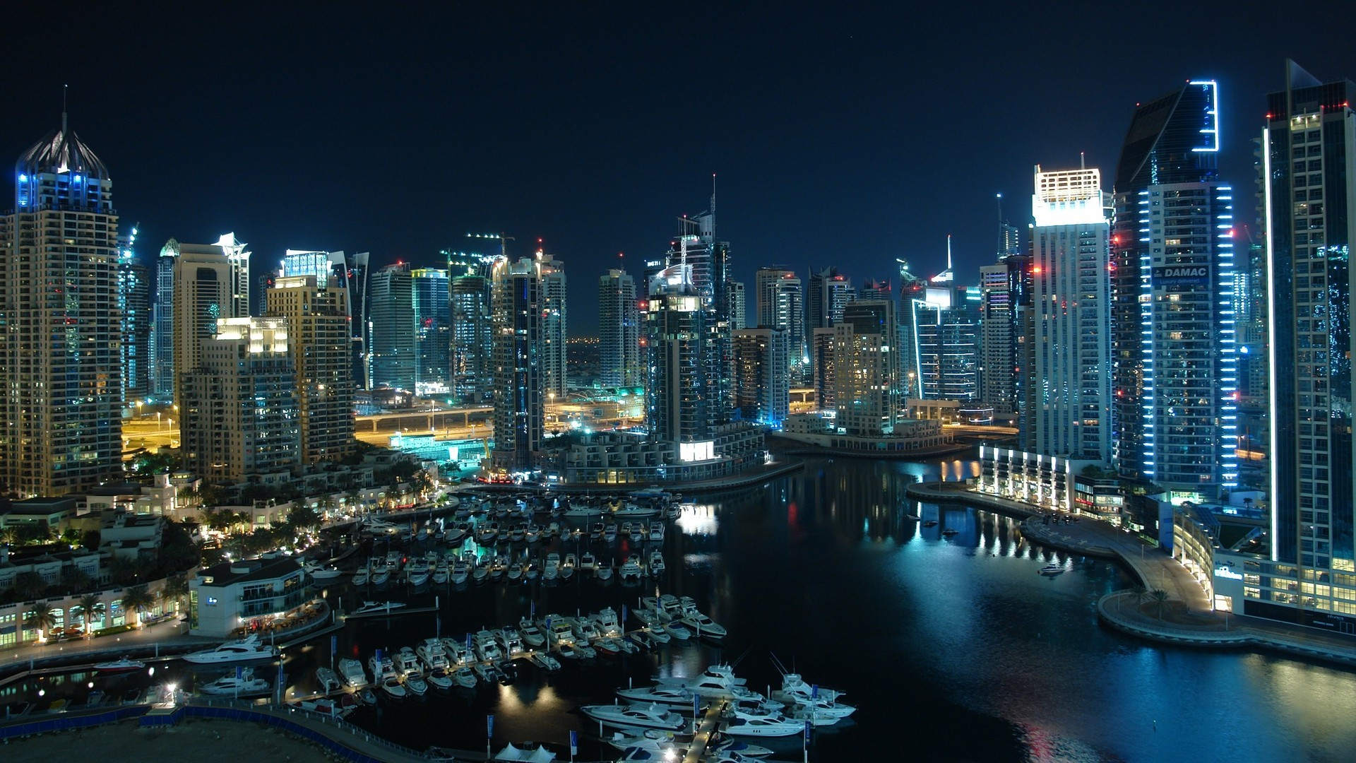 cityscapes dubai Harbor HD Wallpaper