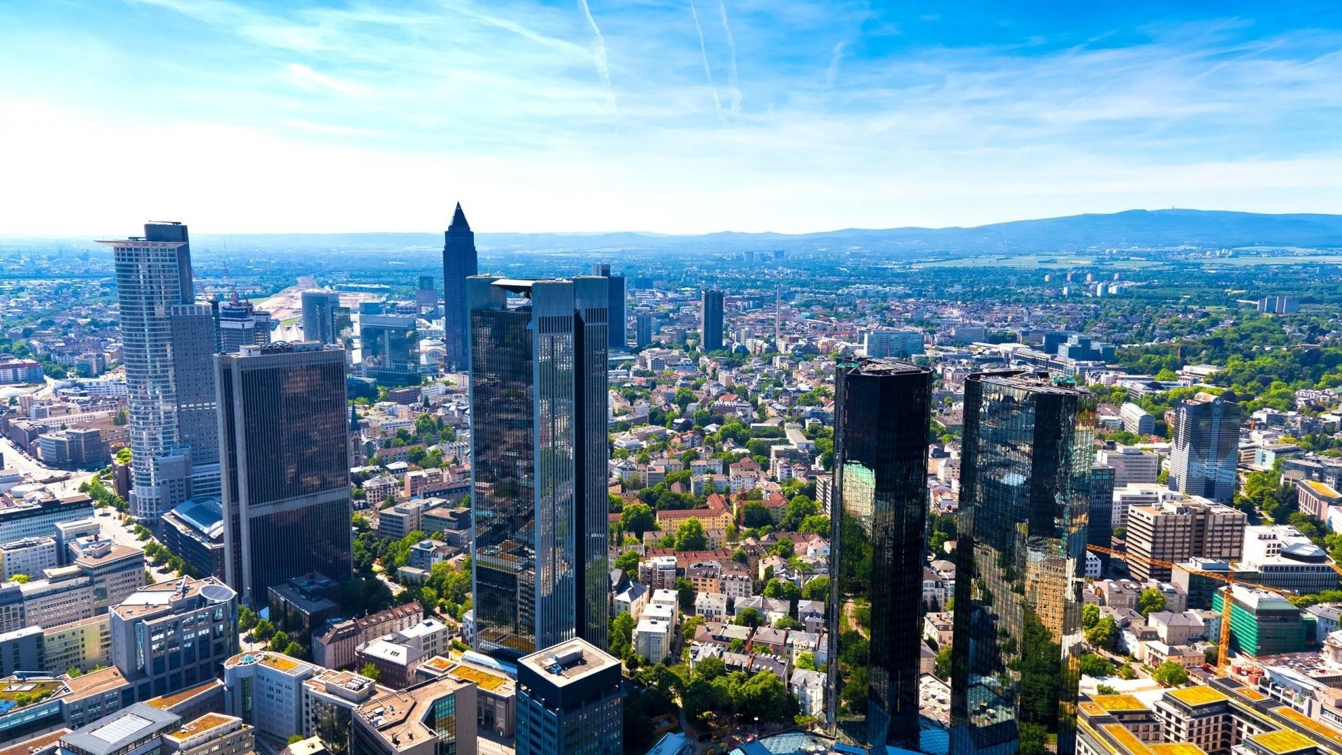 cityscapes germany Skyscrapers frankfurt HD Wallpaper
