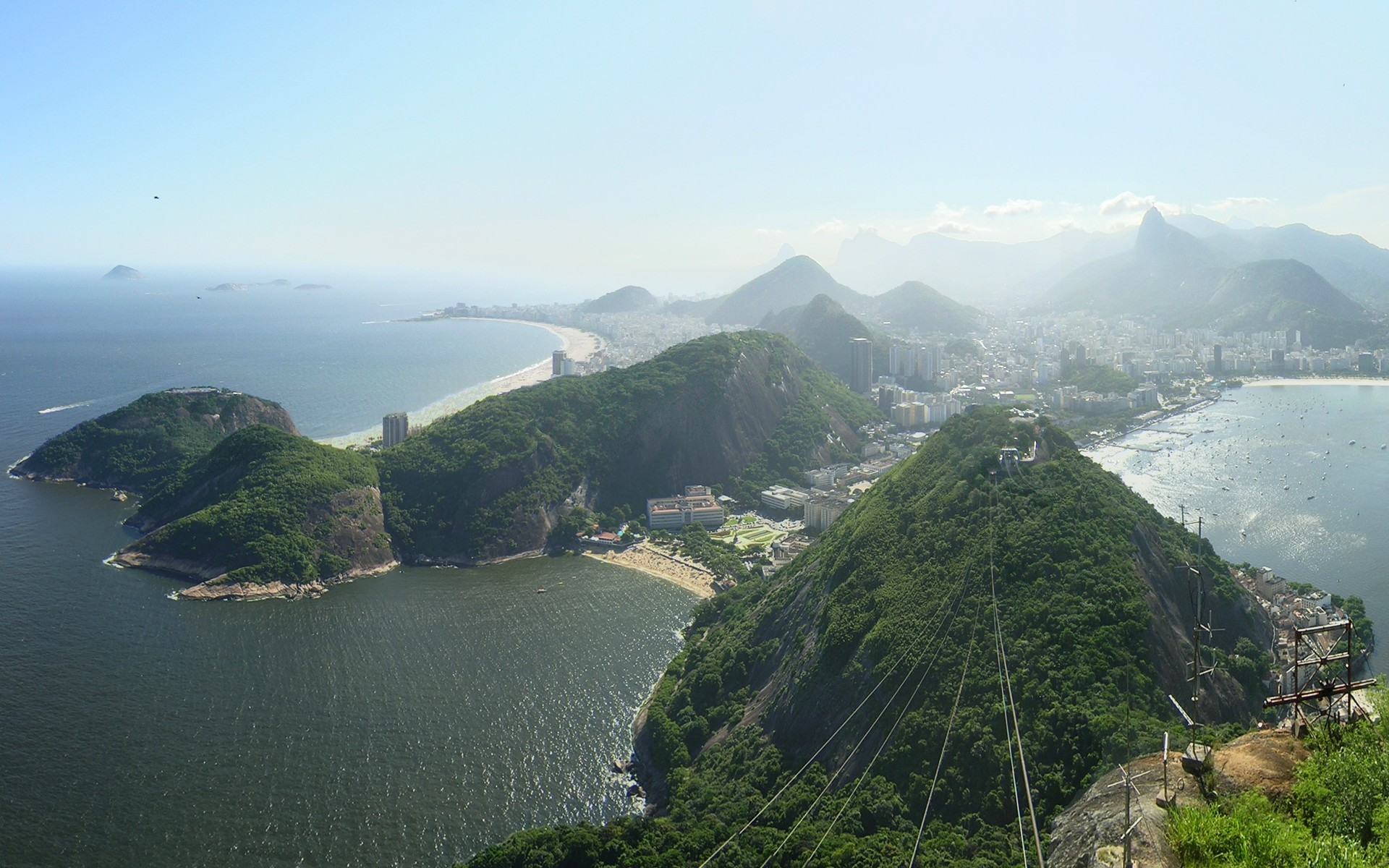 cityscapes hills Brazil Rio HD Wallpaper