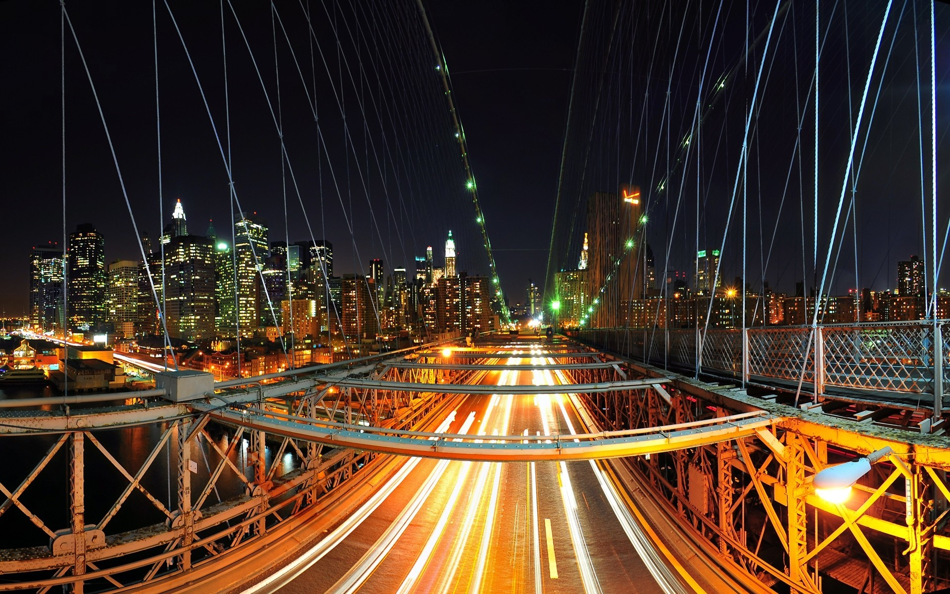 cityscapes lights Bridges urban HD Wallpaper