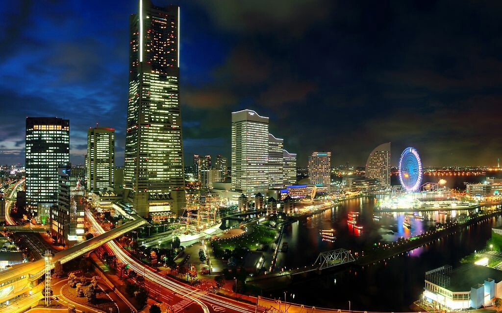 cityscapes long exposure light HD Wallpaper