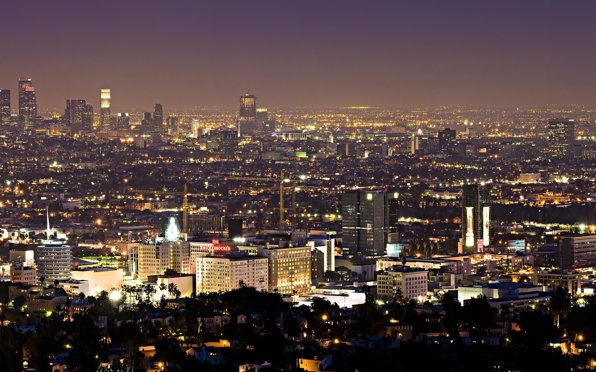 cityscapes Los Angeles HD Wallpaper
