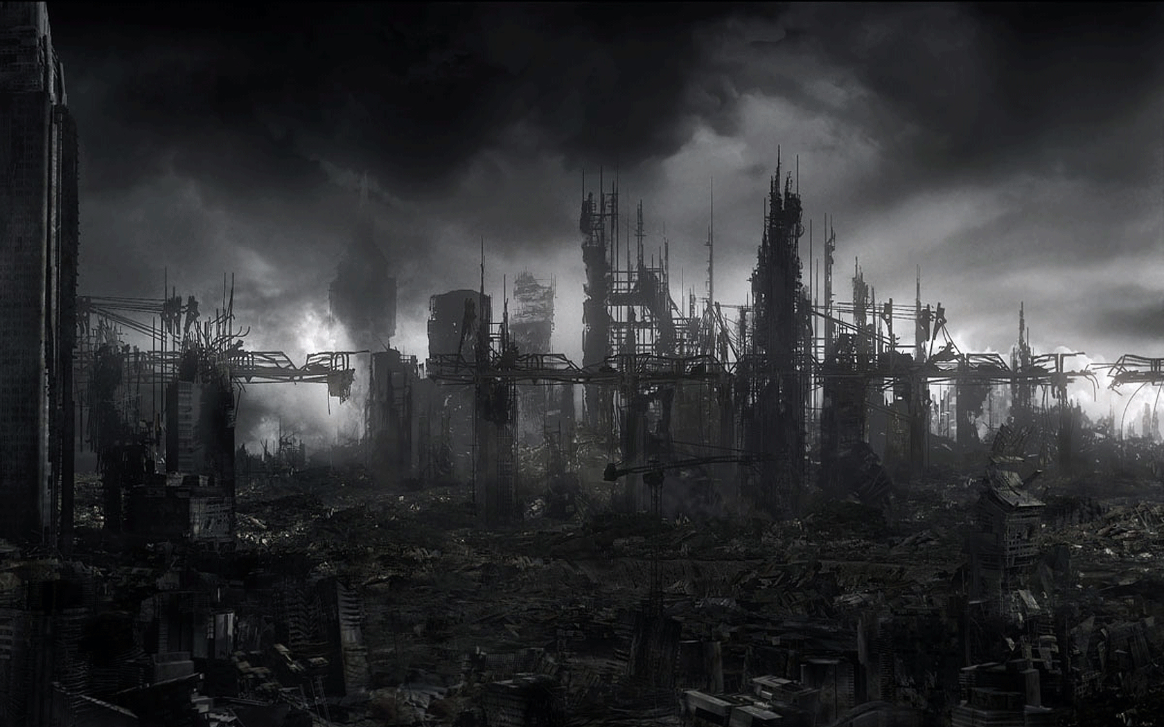 cityscapes post-apocalyptic artwork City HD Wallpaper