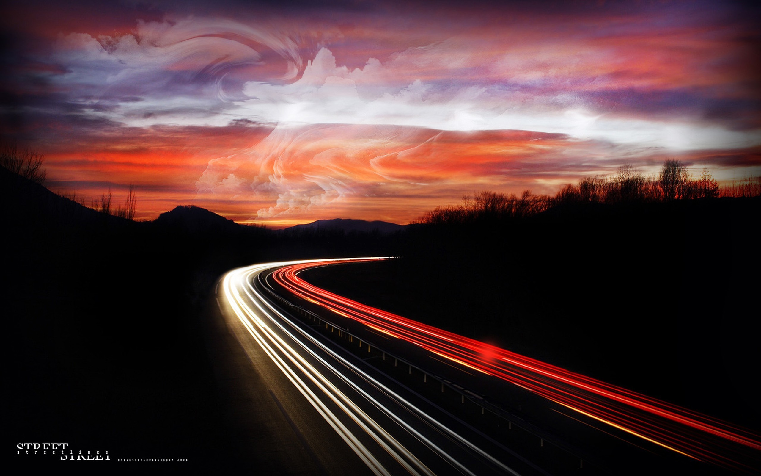 cityscapes roads long exposure HD Wallpaper