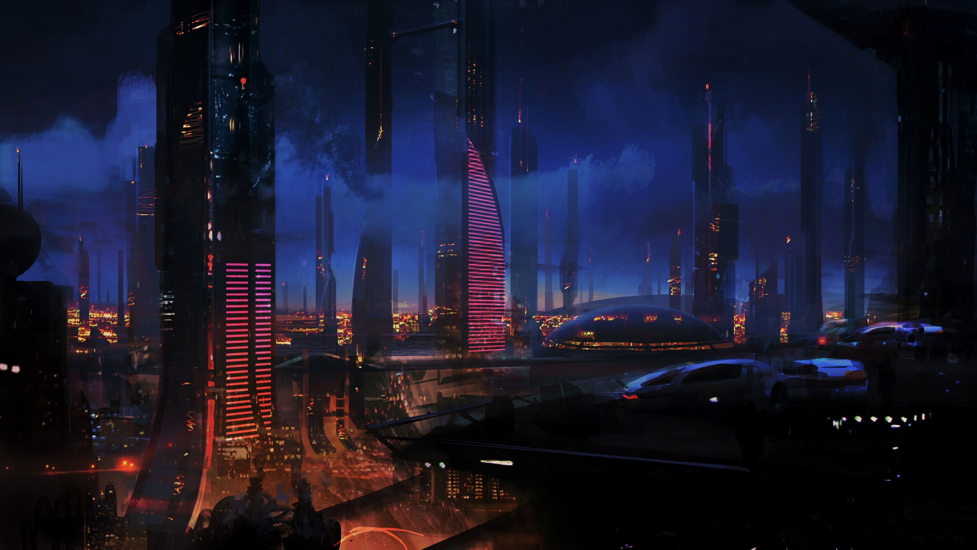 cityscapes skylines mass effect HD Wallpaper