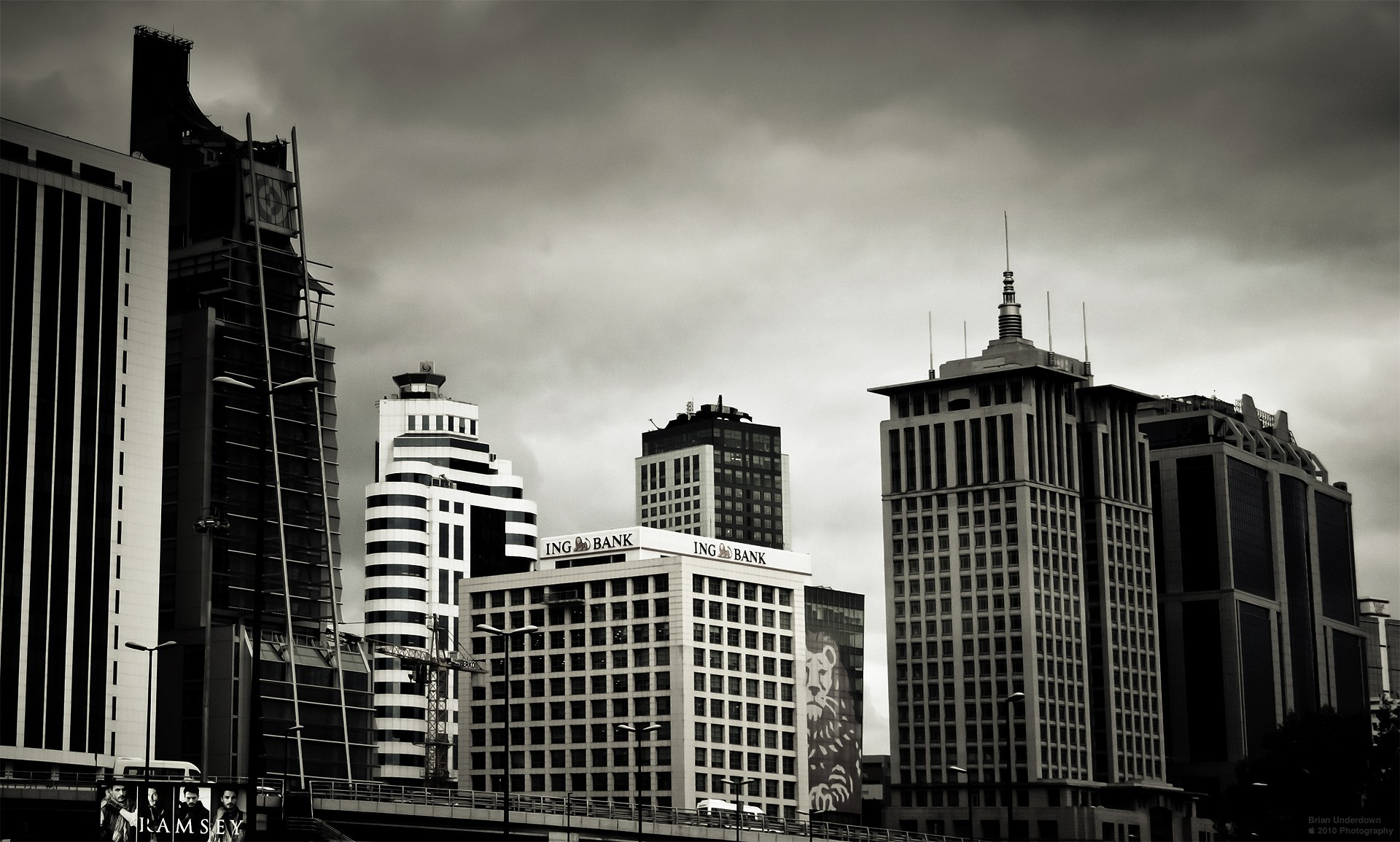 cityscapes Skyscrapers monochrome Istanbul HD Wallpaper